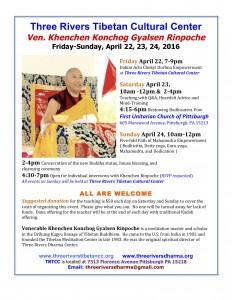 Khenchen Rinpoche flyer
